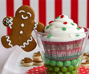 cake, merry christmas, and Cookies image