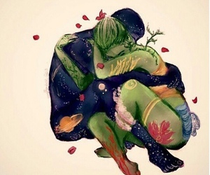 love, nature, and couple image