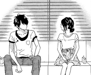 manga, shoujo, and black&white image