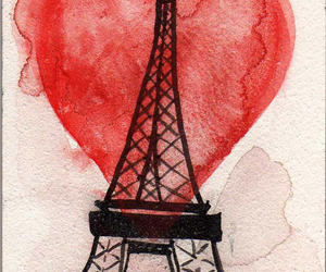 heart, paris, and red image
