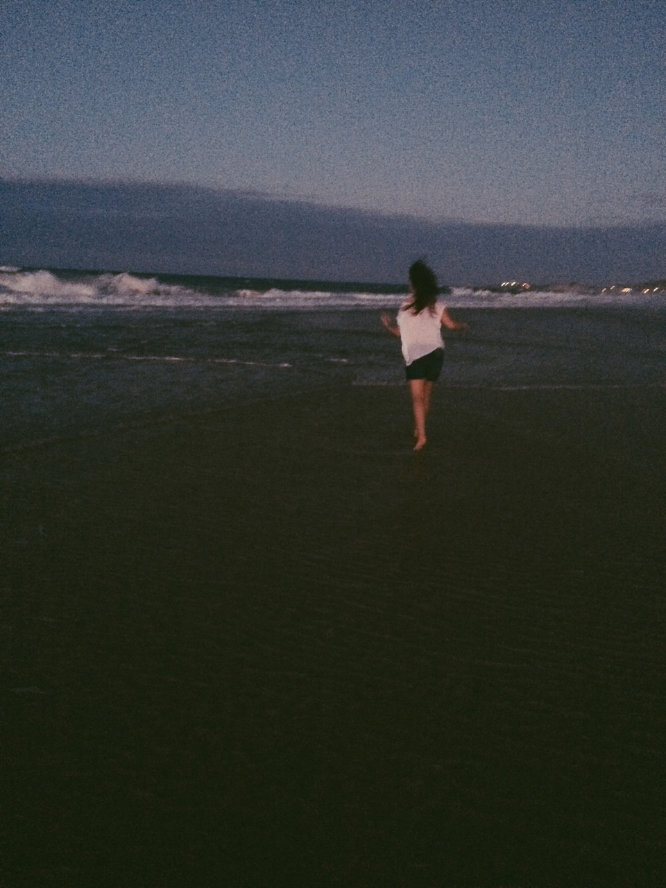 beach, blue, and evening image