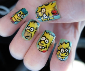 nails, simpsons, and cool image