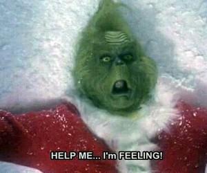 grinch, christmas, and feelings image