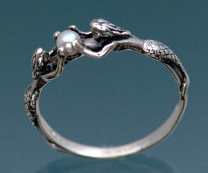 mermaid, ring, and pearl image