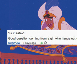 aladdin, comment, and prince image