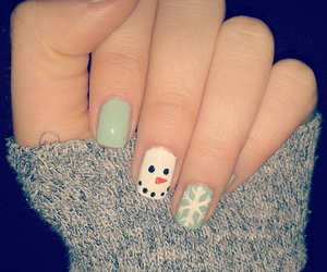 christmas, nails, and snowflake image