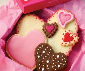 box, Cookies, and hearts image