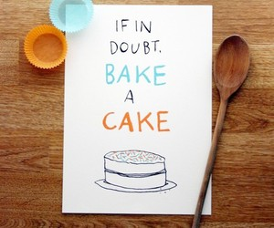 cake, bake, and quote image
