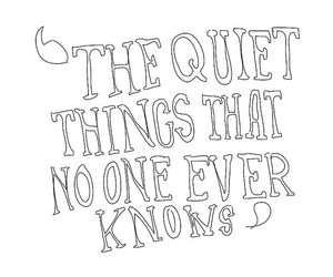 quote, quiet, and brand new image