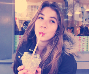funny, smoothie, and girl image