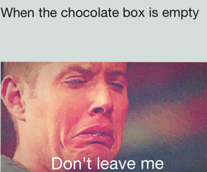 chocolate, crying, and dean winchester image