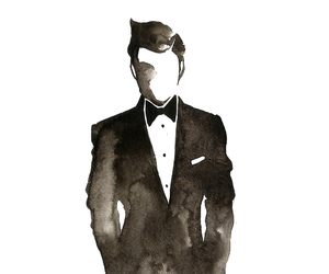 suit, drawing, and man image