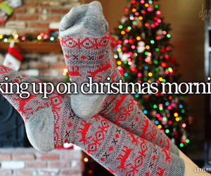 christmas, morning, and socks image