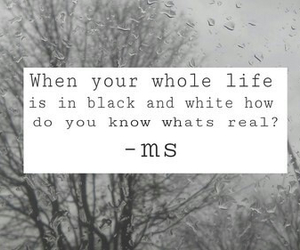 black and white, quotes, and sad image