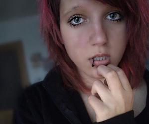 piercing and redhead image