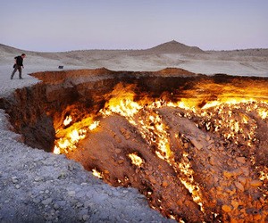 fire, hell, and lava image