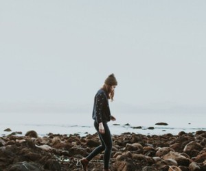 girl, hipster, and alone image