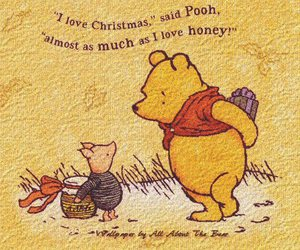 christmas, pooh, and winnie the pooh image