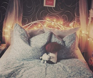 bed, Dream, and sleep image