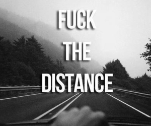 black and white, distance, and quote image