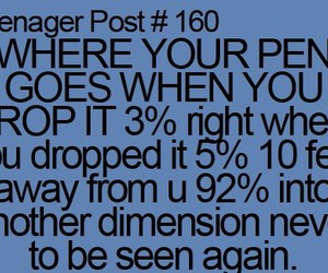 teenager post, funny, and pen image