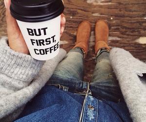 coffee, fashion, and fall image