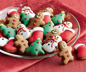 food, cute, and gingerbread man image
