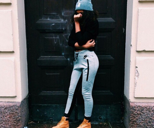 fashion, nike, and timberland image