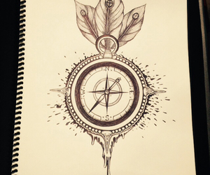 art, drawing, and compass image
