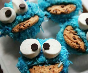 blue, food, and cookie image