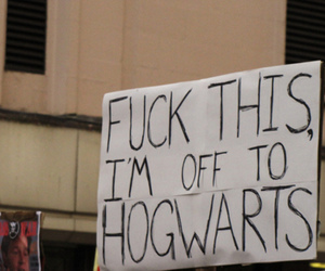 fuck, writing, and harry potter image