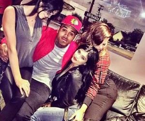 kylie jenner, chris brown, and kendall jenner image