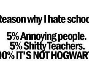 school, hogwarts, and harry potter image