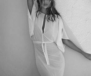 black and white, dress, and miranda kerr image