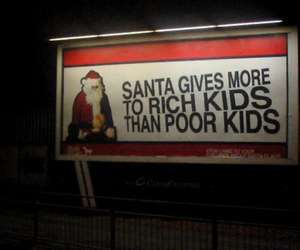 funny, sad, and santa image