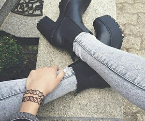 black, boot, and grunge image
