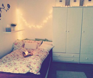 bed room, pink, and white image