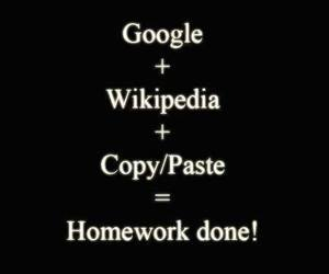 homework, google, and wikipedia image