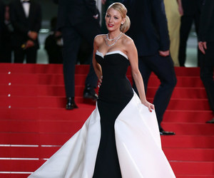 cannes, black and white, and red carpet image
