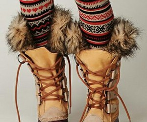 boots, winter, and fur image