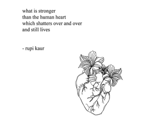broken, poetry, and heart image