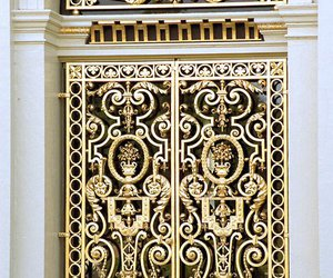 gold, door, and architecture image