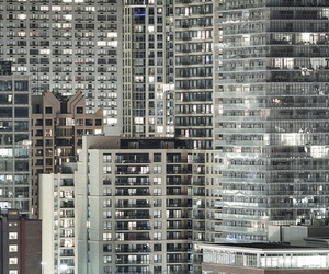 city, grunge, and lights image