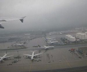 airplane, airport, and pale image