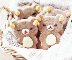 Cookies, rilakkuma, and food image