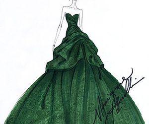 drawing, dress, and girl image