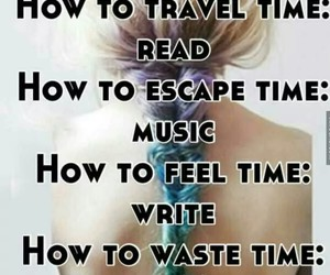 time, music, and read image