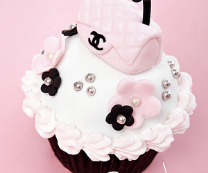 cupcake, pink, and chanel image