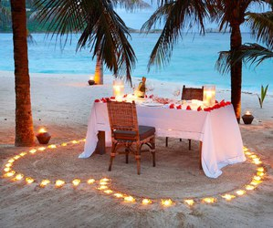 romantic, beach, and heart image