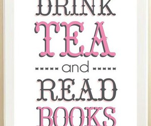 books, evenings, and drink tea image